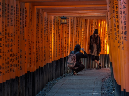 Red Torii Gates, Fushimi Inari, Kyoto, Japan - 2014