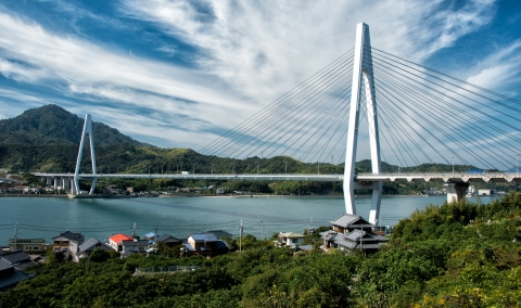 Bridge Between Innoshima and Ikuchi Islands, Japan